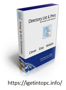 Directory List and Print Pro  Crack 4.13
